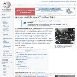 Actes de capitulation du Troisième Reich