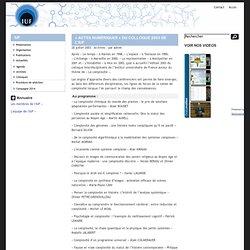 """IUF » """"Actes numériques"""" du colloque 2003 de l'IUF"""