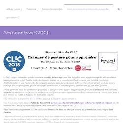Actes et présentations #CLIC2018