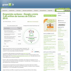 Acteurs › Empreinte carbone : Google a émis 1,46 million de tonnes de CO2 en 2010