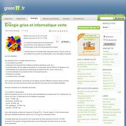 Energie grise et informatique verte
