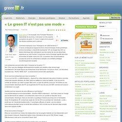 « Le green IT n'est pas une mode »