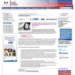 Les acteurs de la chaîne du livre à l'ère du numérique (Notes d'analyse 270 - 271 - 272 - Mars 2012