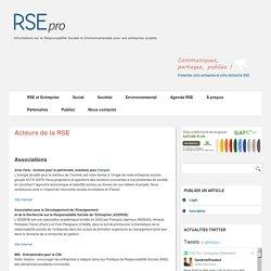 Acteurs de la RSE – RSE-Pro