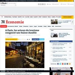 A Paris, les acteurs du tourisme craignent une baisse durable