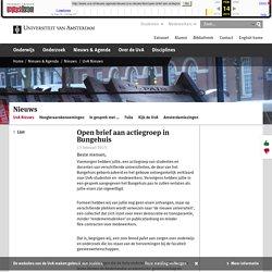 Open brief aan actiegroep in Bungehuis - Universiteit van Amsterdam