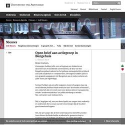 Open brief aan actiegroep in Bungehuis