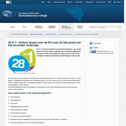 28 in 1 - Actieve lessen over de EU voor de 3de graad van het secundair onderwijs