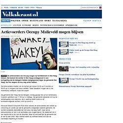 Actievoerders Occupy Malieveld mogen blijven - Binnenland