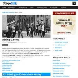 Drama Exercises and Games for Kids and Adults