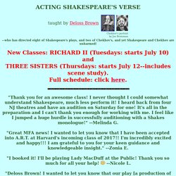 Acting Shakespeare