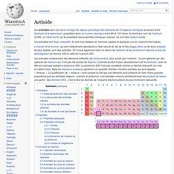 Les actinides