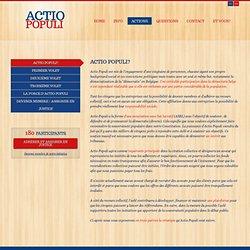 Actio Populi - Actions