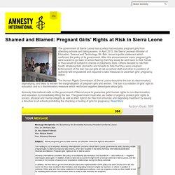 Take Action Now - Amnesty International USA