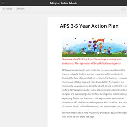 APS 3-5 Year Action Plan - Arlington Public Schools