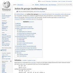 Action de groupe (mathématiques)