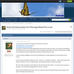 Action De Dénonciation Du Pilonnage Massif De Livres