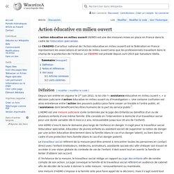 Action éducative en milieu ouvert