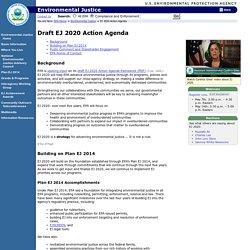 Environmental Justice 2020 Action Agenda