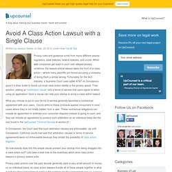 Avoid A Class Action Lawsuit with a Single Clause - UpCounsel Blog