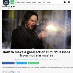How to make a good action film: 11 lessons from modern movies · Inventory