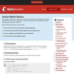 Action Mailer Basics