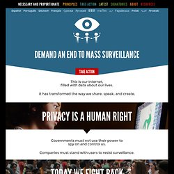 International Principles on the Application of Human Rights to Communications Surveillance | Drupal