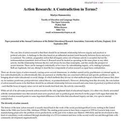 Action research: a contradiction in terms?