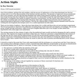 Action Sigils