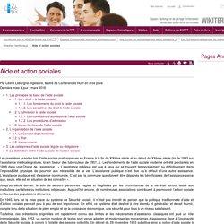 Aide et action sociales - CNFPT