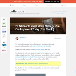 Ebook: 25 Actionable Social Media Strategies to Try Today