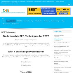 26 Actionable SEO Techniques for 2020