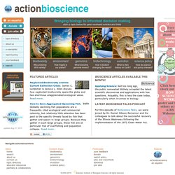 ActionBioscience - promoting bioscience literacy