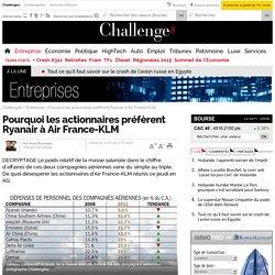 Pourquoi les actionnaires préfèrent Ryanair à Air France-KLM