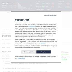 Profil société Starbucks, activité, actionnaires et dirigeants de l'entreprise SBUX - US8552441094 - Boursier.com