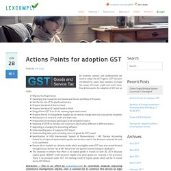 Key Point for adopting GST in India