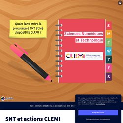 SNT et actions CLEMI by edwige.jamin on Genial.ly