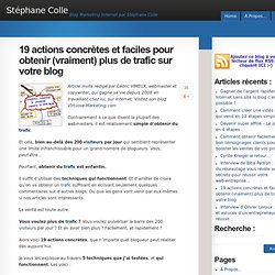 19 actions concrètes et faciles pour obtenir (vraiment) plus de trafic sur votre blog