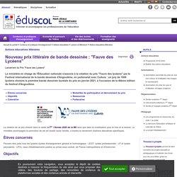 """Actions éducatives littéraires - Prix """"Fauve des Lycéens"""""""