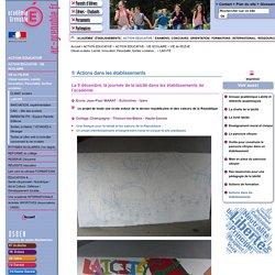 Actions dans des établissements dans l'académie de Grenoble