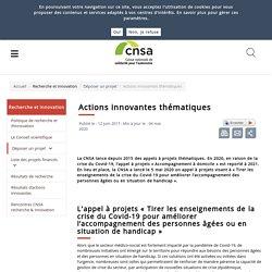 Actions innovantes thématiques