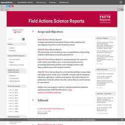 Field Actions Science Reports - The journal of field actions