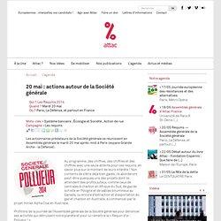 20 mai : actions autour de la Société générale