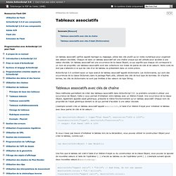 Adobe ActionScript 3.0 * Tableaux associatifs