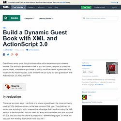 Build a Dynamic Guest Book with XML and ActionScript 3.0