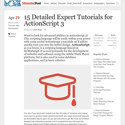 15 Detailed Expert Tutorials for ActionScript 3