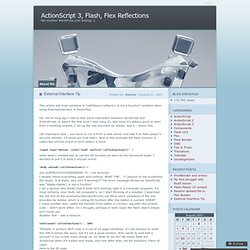 External Interface Tip « ActionScript 3, Flash, Flex Reflections