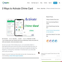 How to Activate Chime Card