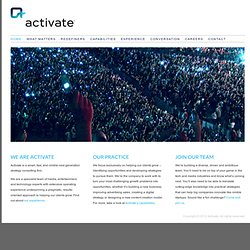 Activate: Strategy Consulting Redefined - Activate: Strategy Consulting Redefined