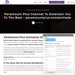 How To Activate Paramount Plus on Roku?